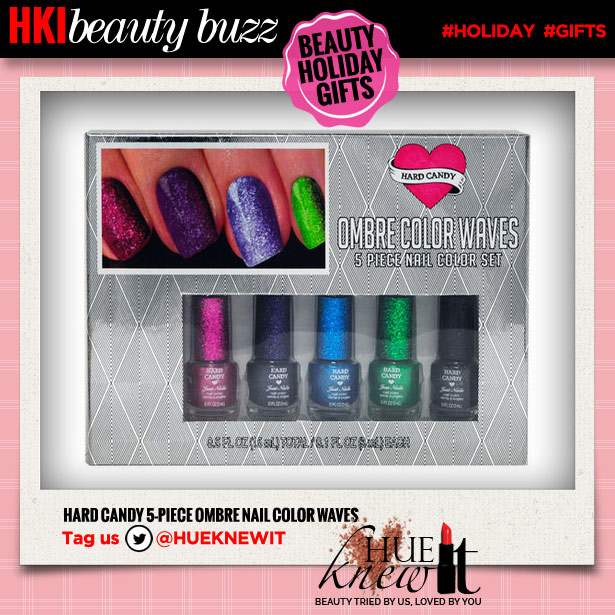 hueknewit beauty buzz beauty holiday gifts hard candy 5pc ombre nail color waves