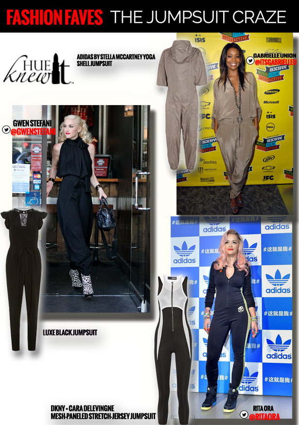 hueknewit FASHION FAVES jumpsuit Gwen Stefani