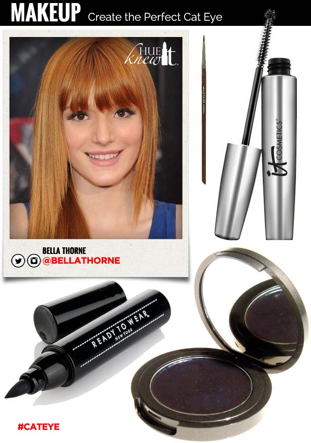 hueknewit MAKEUP Create the Perfect Cat Eye Bella Thorne