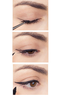 hueknewit MAKEUP Create the Perfect Cat Eye cosmopolitan magazine how to