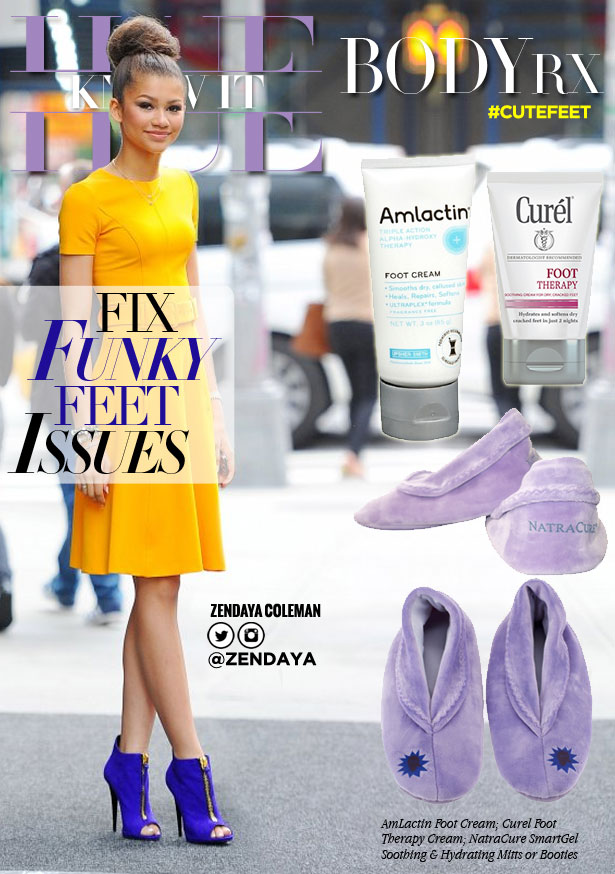 hueknewit BODY RX funky feet issues Zendaya Coleman