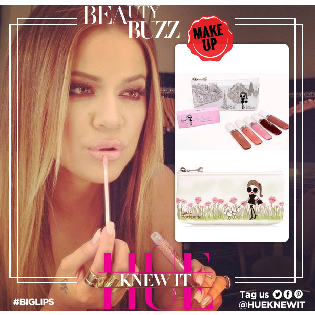 Lucie + Pompette lipgloss helps give you plumped lips like Khloe Kardashian