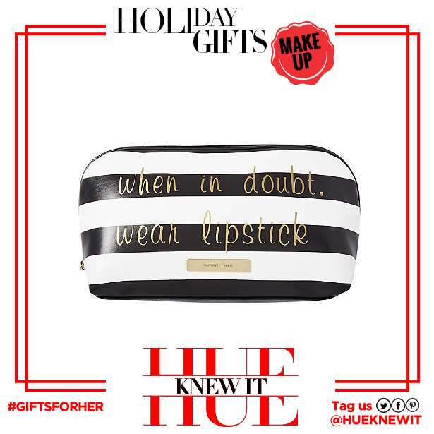 "gifts for her: Tartan + Twine ""When In Doubt"" Camden Cheer Striped Medium Clutch"