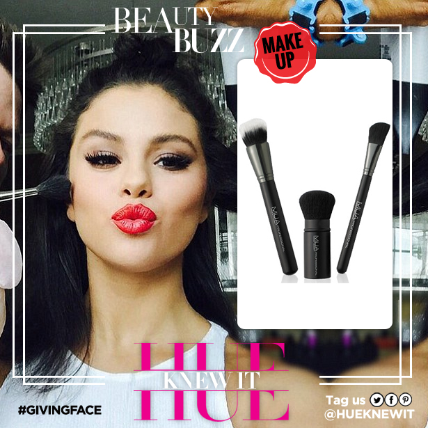 makeup brush set Selena Gomez