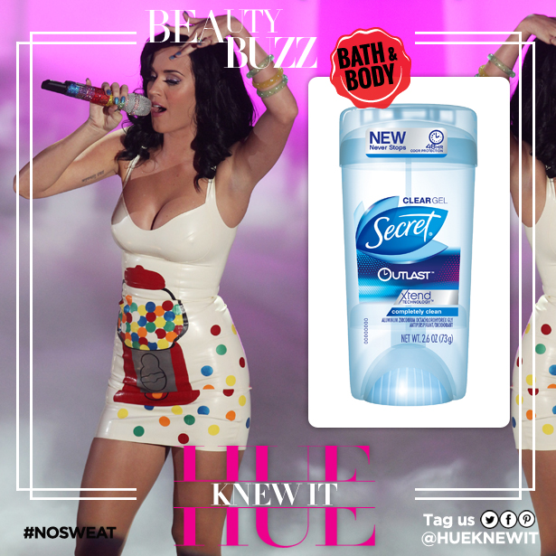 Katy Perry Secret Outlast sweat protection