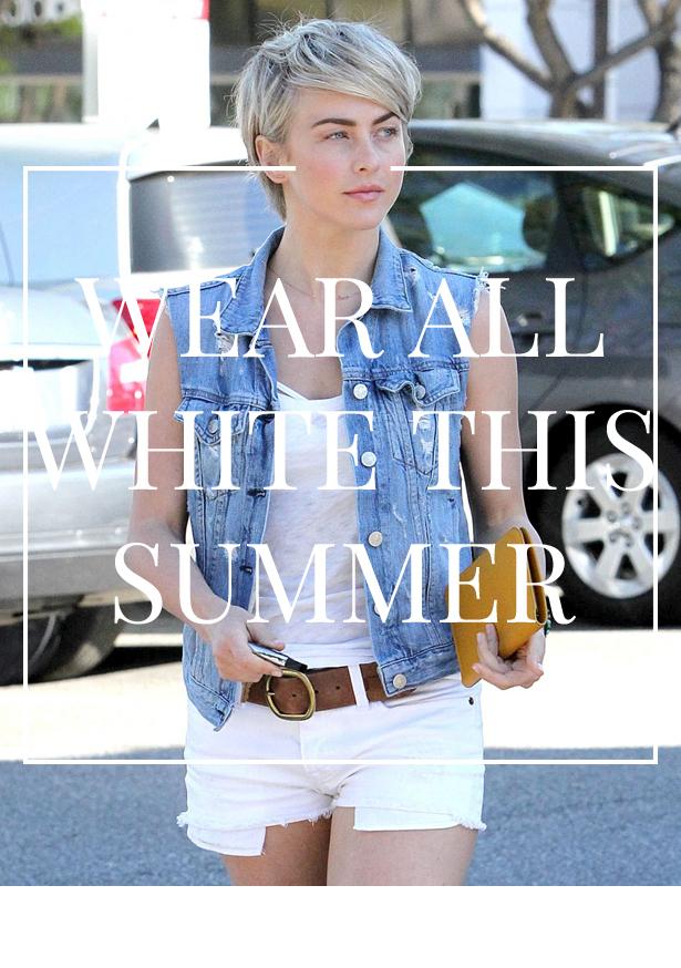 Julianne Hough wears all white