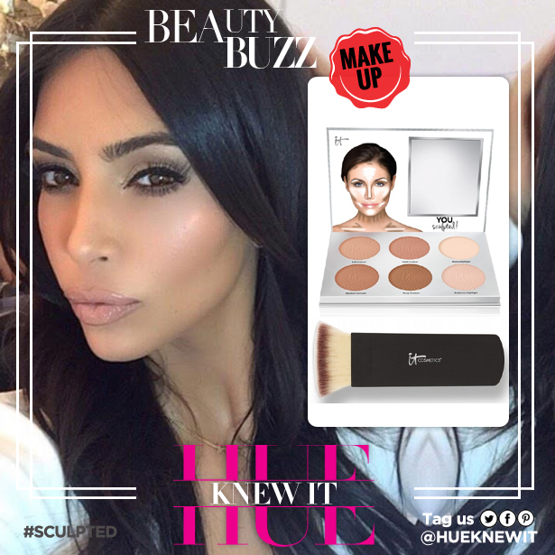 Kim Kardashian creates dimension with face contouring