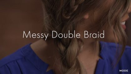 How to Create a Messy Double Hair Braid