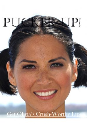 How Olivia Munn Preps For National Lipstick Day!