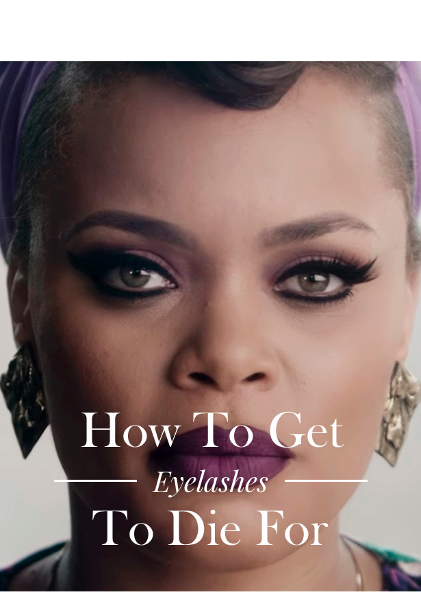 Battington eyelashes - Andra Day cat eye look