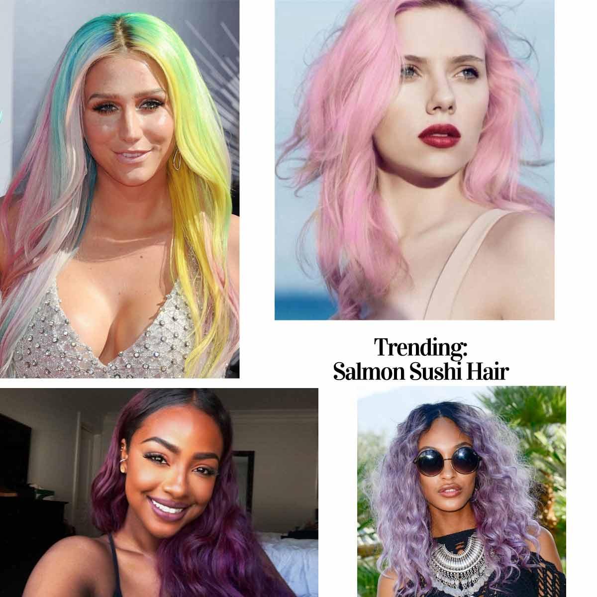 splat-hair-color salmon sushi trend
