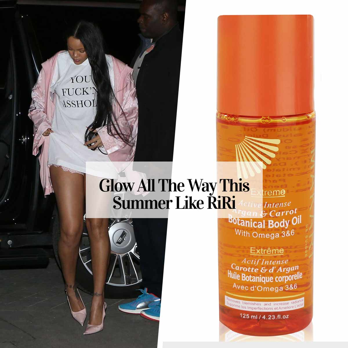 Get The RiRi Glow à la This Botanical Enriched Body Oil